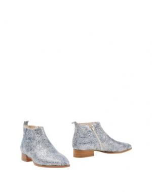 Полусапоги и высокие ботинки LORENZO MARI. Цвет: грифельно-синий