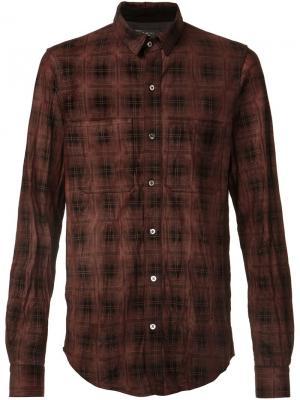 Plaid button down shirt Amiri. Цвет: красный
