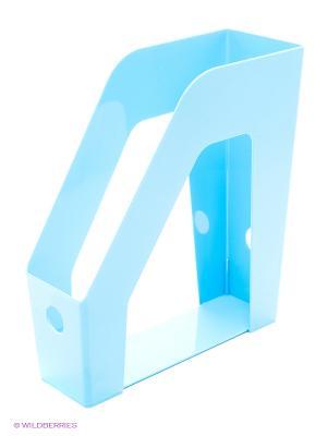 Лоток вертикальный пластиковый, синий Centrum. Цвет: синий