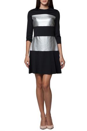 Платье JOELLE YOUNG JO'ELLE. Цвет: black and silver