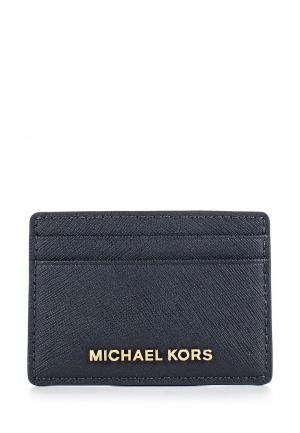 Визитница Michael Kors. Цвет: синий
