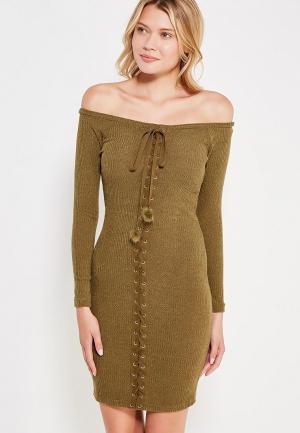 Платье Zeza. Цвет: зеленый