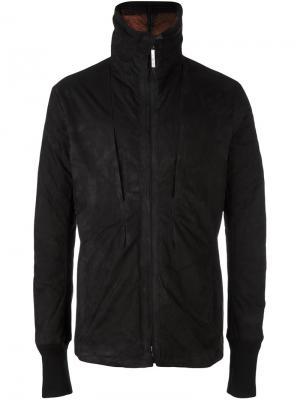 Укороченное кожаное пальто Isaac Sellam Experience. Цвет: чёрный