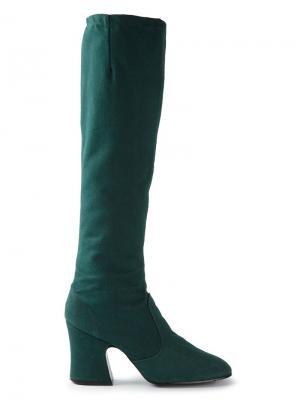 Сапоги по колено Biba Vintage. Цвет: зелёный