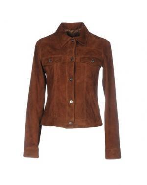 Куртка OLIVIERI. Цвет: коричневый