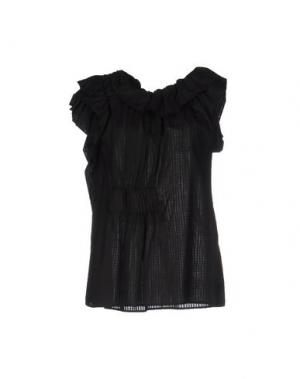 Блузка OBLIQUE CREATIONS. Цвет: черный