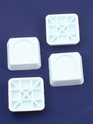 Набор их 4-х антивибрационных подставок для стиральных машин и холодильников Радужки. Цвет: белый
