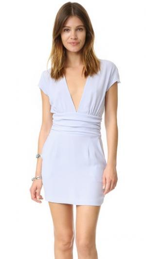 Мини-платье Olivia Flynn Skye. Цвет: светло-голубой