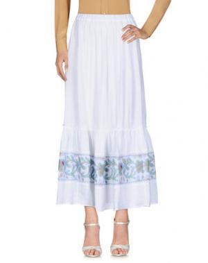 Длинная юбка 120% LINO. Цвет: белый