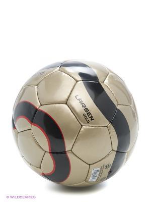 Мяч футбольный LuxGold Larsen. Цвет: золотистый, черный, красный
