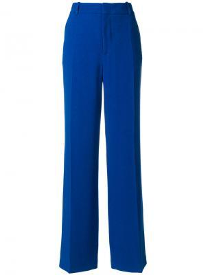 Расклешенные брюки-палаццо Joseph. Цвет: синий