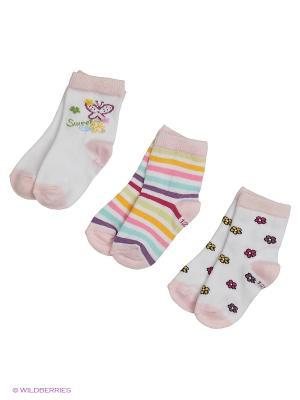 Носки PERA MAYA. Цвет: белый, розовый