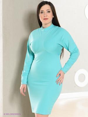 Платье La Reine Blanche. Цвет: бирюзовый