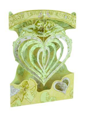 Объемная открытка  Любовь Даринчи. Цвет: зеленый