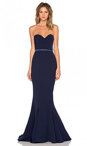 Вечернее платье arianna Elle Zeitoune. Цвет: синий