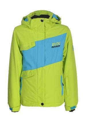 Куртка утепленная Fun Rocket. Цвет: зеленый