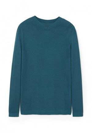 Пуловер Mango Man. Цвет: синий