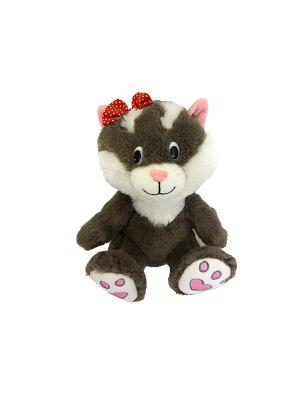 Кошечка Мила, озвученная, 20 см(MP-HH-R9048E) MAXITOYS. Цвет: серый, белый