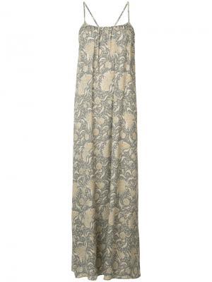 Платье-макси с принтом Vince. Цвет: телесный