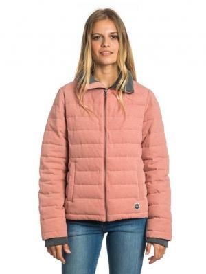 Куртка  DONARIETA JACKET Rip Curl. Цвет: бледно-розовый, коралловый, розовый