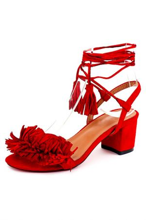 Босоножки Riccorona. Цвет: красный