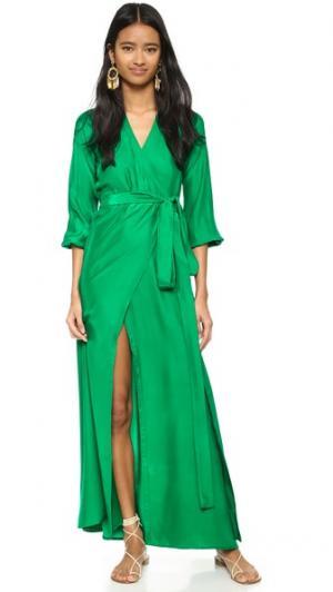 Платье-халат Jagger Rhode Resort. Цвет: голубой