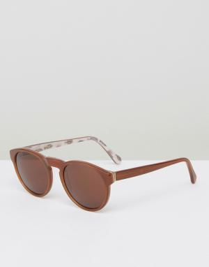 Retrosuperfuture Солнцезащитные очки Paloma. Цвет: коричневый