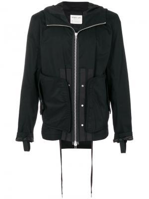 Куртка на молнии с капюшоном Helmut Lang. Цвет: чёрный