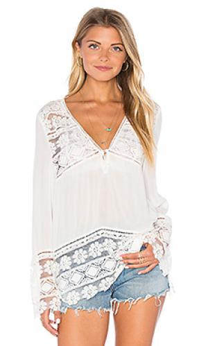 Sienna lace top Spell & The Gypsy Collective. Цвет: white