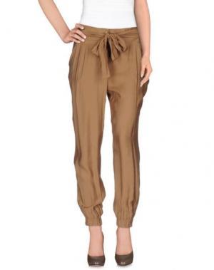 Повседневные брюки MISS MONEY. Цвет: верблюжий