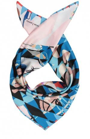 Шелковый платок с принтом Christian Lacroix. Цвет: синий