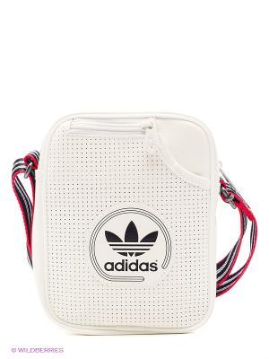 Сумка MINI BAG PERF adidas. Цвет: белый, черный