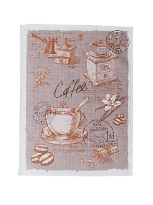 Набор полотенец,3штуки Fresca Design. Цвет: коричневый
