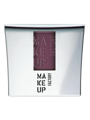 Компактные шелковистые румяна Blusher №48, оттенок бургундский Make up factory. Цвет: лиловый