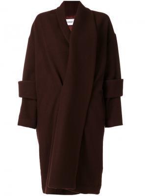 Пальто с двойными манжетами Chalayan. Цвет: коричневый