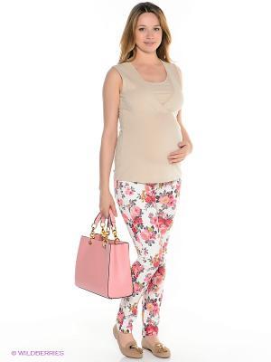 Брюки для беременных ФЭСТ. Цвет: белый, розовый