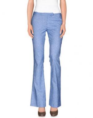 Повседневные брюки TERESA DAINELLI. Цвет: лазурный