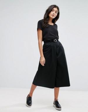 YMC Трапециевидная юбка-шорты. Цвет: черный