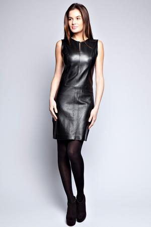LAMB LEATHER DRESS Giorgio. Цвет: black