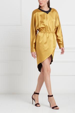 Однотонное платье Viva Vox. Цвет: золотой