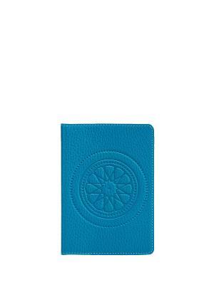 Обложка для паспорта FABULA. Цвет: голубой