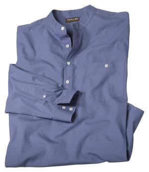 Рубашка с Воротником-стойкой AFM. Цвет: синии