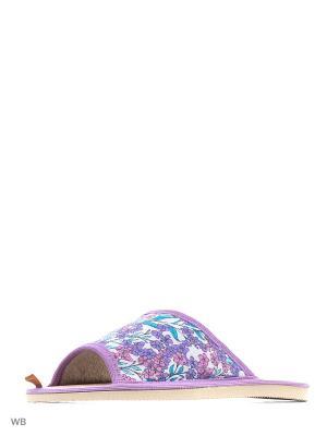Тапочки DOMINO. Цвет: сиреневый