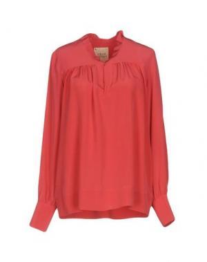 Блузка GARAGE NOUVEAU. Цвет: коралловый