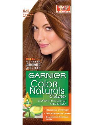 Стойкая питательная крем-краска для волос Color Naturals, оттенок 6.41, Страстный янтарь Garnier. Цвет: коричневый