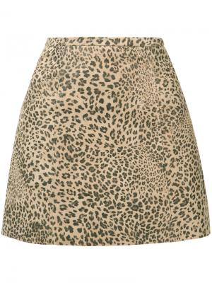 Leopard print skirt Joie. Цвет: телесный