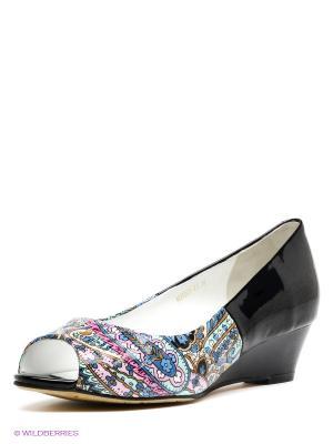 Туфли Moda Donna. Цвет: черный, бирюзовый, сиреневый