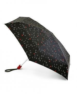 Зонт механический Буквы  by Fulton Lulu Guinness. Цвет: черный