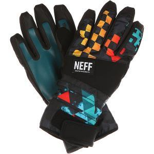 Перчатки сноубордические  Digger Glove Psychosafari Neff. Цвет: черный,мультиколор