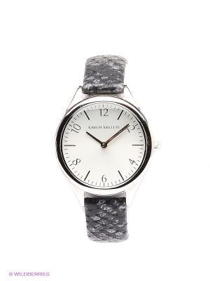 Часы KAREN MILLEN. Цвет: серый, белый